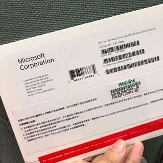 全新 微軟 win pro 7 SP1 x64 中文隨機版