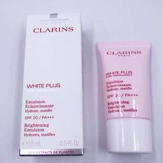 clarins white plus emusion spf 20/PA+++  15ml brand new