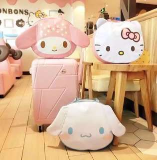 Sanrio Characters Shoulder Bag with Luggage Handle Slot