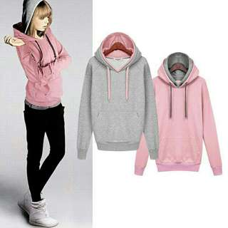 Jacket with pull over hood