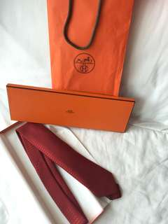 Brand new Hermes silk tie