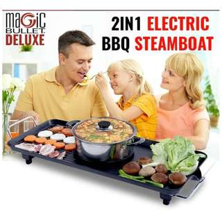 2in1 electric bbq steamboat