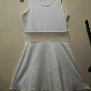 White semi-see-through dress #whitedress