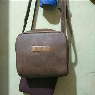 Tas kamera brown leather
