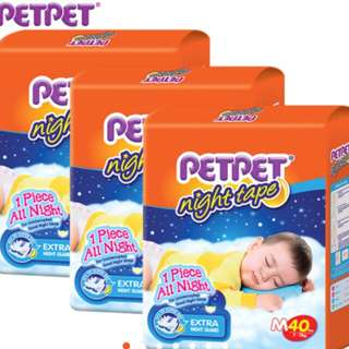 Petpet night tape jumbo packs (3 packs)