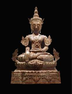 19th century Burmese MON Seated Buddha