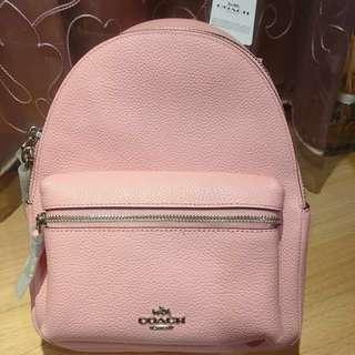 🚚 Coach粉紅色mini後背包