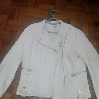 Bershka White Leather Jacket ( w/ tag)