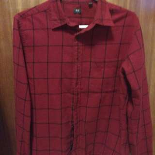 Uniqlo red plaid shirt. New with without tags