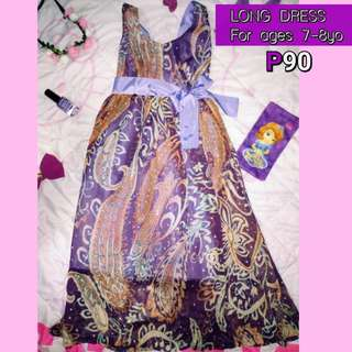 Preloved kid's long dress