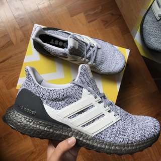"Adidas Ultra Boost 4.0 ""Cookies And Cream"" Oreo Dark Grey Boost Shoe"