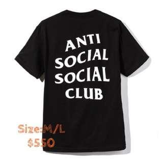 Anti social club tee