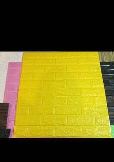 3D bricks foam wallpaper self-adhesive