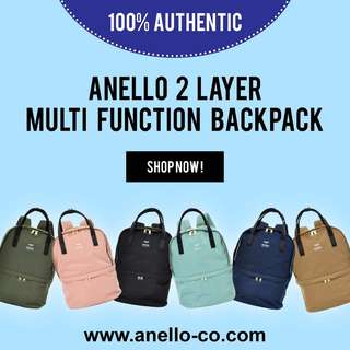 ANELLO 2 Layer Multi Function Backpack