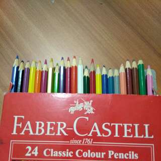 colored pencils hardly used