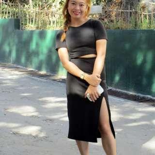 Black Long dress With Slit