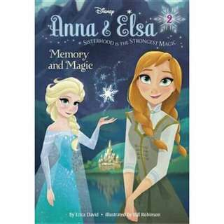 👑 [ Brand New ] Anna & Elsa #2 : Memory and Magic (Disney Frozen)  By: Erica David, Bill Robinson (Illustrator)  Hardcover