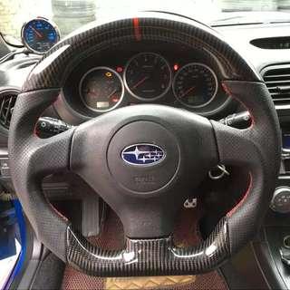 Subaru impreza wrx sti carbon fibre steering wheel