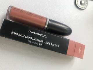 MAC retro matte liquid lipcolour lipstick authentic waterproof QUARTZETTE nude natural