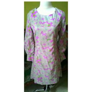 Dress pink mocca flower
