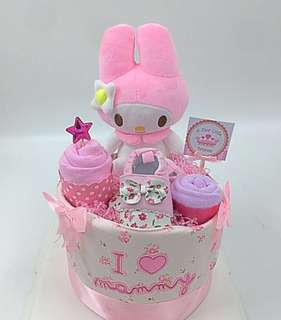 My Melody Baby Diapers Cake - ready stock