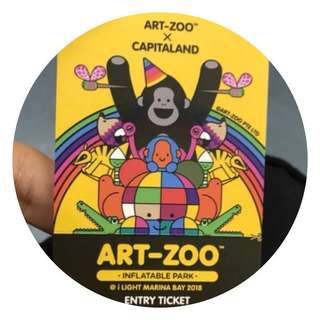 ❗️Reserved❗️Art zoo 1 ticket