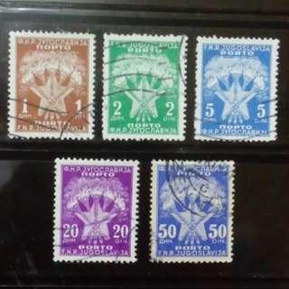 [lapyip1230] 前南斯拉夫 1955年 國徽 欠資郵票 VFU