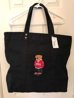 Polo Ralph Lauren Bear Canvas Bag