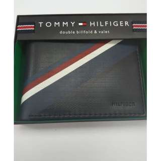 New Style!全新美國入口 TOMMY HILFIGER Wallet 銀包 (真皮) 聖誕禮物 專門店賣$590 海軍藍