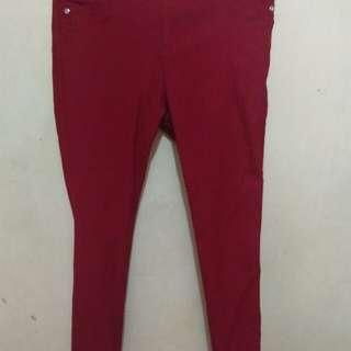 Red PANTS (stretchable)