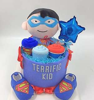 Baby Diapers Cake - Marvel Superman theme