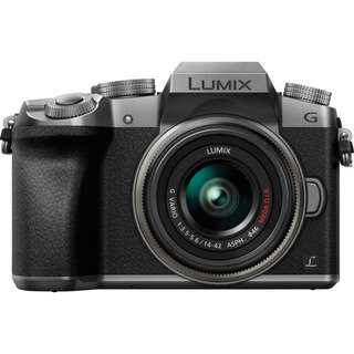 Panasonic Lumix G7 Mirrorless Camera with 14 to 42mm Lens Silver M43