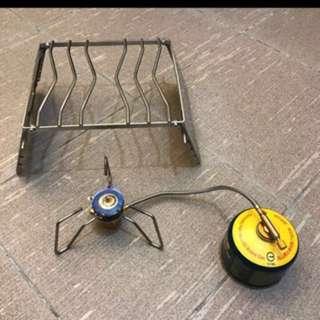 露營專用蜘蛛爐和層架