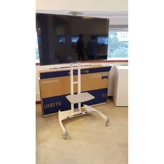 White TV mobile Stand for TV up to 65 inches Whatsapp:8778 1601