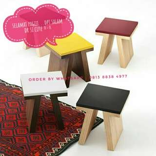 kursi unik / kursi kayu lucu