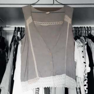 Korean Style Outer Wear (Sleeveless Lace)