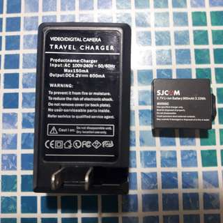 Sjcam battery and charger