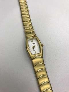 Vintage style titanium gold ladies watch