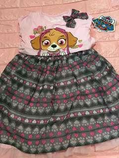 Instock now !! Paw Patrol Skye dress size 4-5yrs old brand new