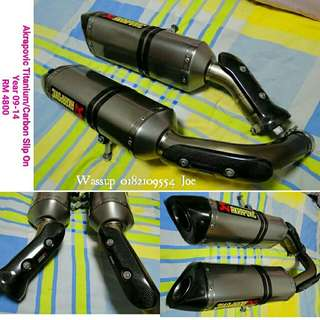 Akrapovic Slip On Titanium + Carbon for Yamaha R1 year 2009-14 RM4800