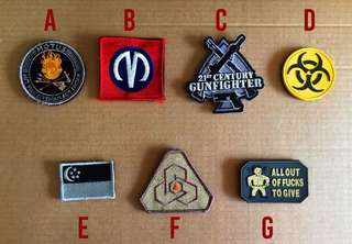 Velcro Morale Patches