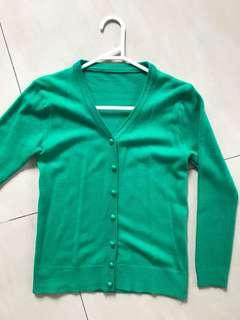 Green cardigan/ sweater
