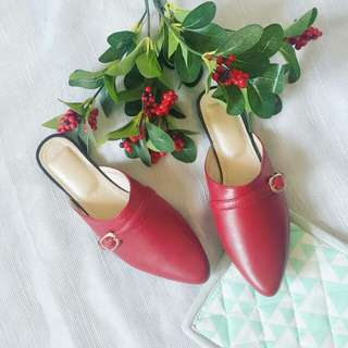 Red Mules FREE DELIVERY