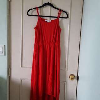 Forever21 Red Sleeveless Dress
