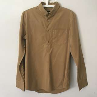 A.P.C. Tabacco Camel Long Sleeve Shirt