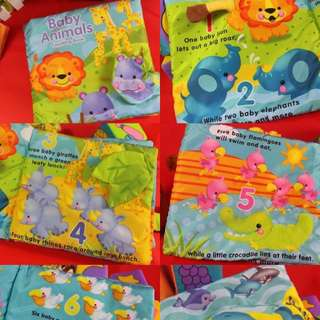 🌈(Ready Stock) 💯 Brand New in pack Jollybaby Educational Early Development Cloth Book