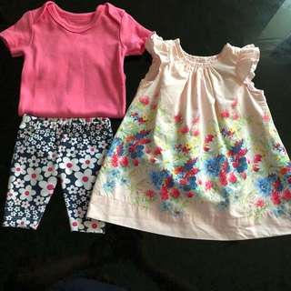 0 to 3months baby dress / clothes