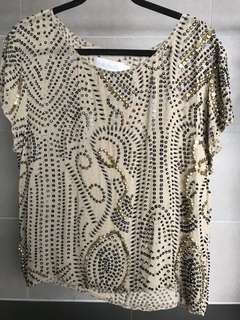 Shakuhachi Beaded Silk Top