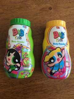 Kids Body Powder Power Puff Girls