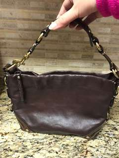 Authentic Coach Leather Carly Hobo Handbag Purse
